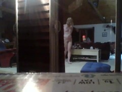 Spycam nude towheaded neighbor with lots of windows