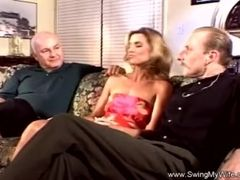 Crazy Swinger ash-blonde wifey Used For fuck-a-thon