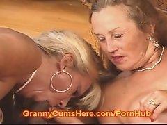 Two SLUTTY Grannies LOVING CUM