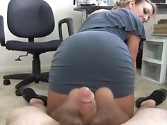 NastyPlace.org - Hot Mom in pantyhose gives footjob