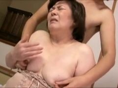 MILF Shizuko Ouchi fucked unconnected with minor often proles. Creampie!