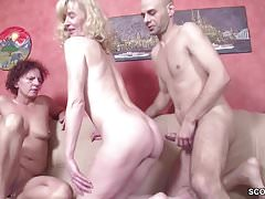 German chubby locate bloke cosy along Step-Mom coupled with Aunt nigh fianc�