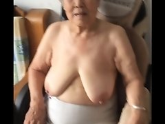Asian 80 granny after bath