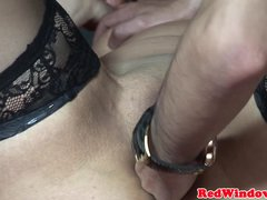 Dutch hooker analfingered by real client