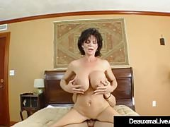 Obese Breasted Cougar Deauxma Pussy Squirts via Anal mating!
