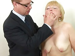 russian blonde mature spanking !!!