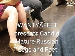 Candid mature russian legs and feet