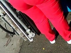 Monstrous arse crimson Pocketless cock-squeezing trousers 2