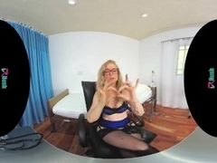 VRHUSH bang-out lessons and Jerk Off Instructions with mature Nina Hartley