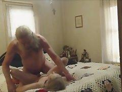 Lucky grandpa scored a sexy granny online
