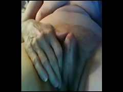 Granny with big clit like a small cock