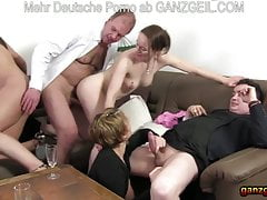 Dinner soiree turns into mature German fuck-fest