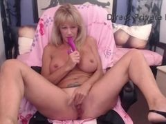 Mature huge-chested platinum-blonde luving a plaything