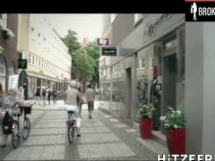 German big-titted cougar picks dude up on street and fucks-him