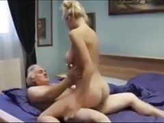 My wild mommy with massive melons gets romped by grandfather
