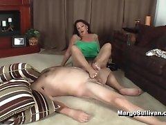 Margo Mature Footjob