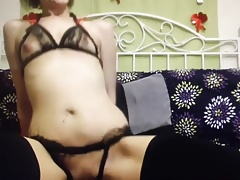 crotchless panties on the couch