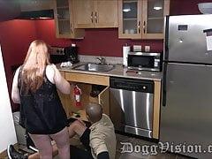 Maintenance guy Creampies hotwifey wifey