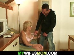 Highly elderly thin ash-blonde mom rails sonnie spear