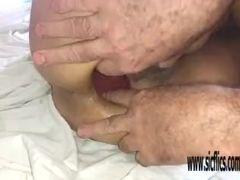 Dual buttfuck going knuckle deep inexperienced Latina Maria