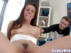 Real eurobabe creampied in cuckold action
