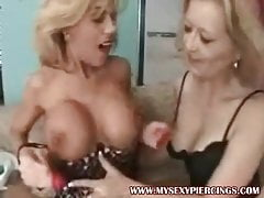 My erotic Piercings milf lesbians yon corroded nipples