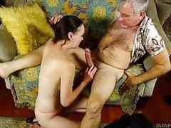 Supah beautiful slender elder spunker fellates rod then gets shafted