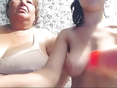 Chubby ugly mature bitch and fresh sweet busty webcam