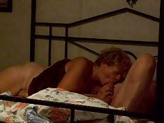 Senior couple lovemaking