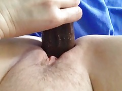 Wife Taking BBC Dildo