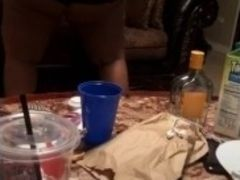 Meaty donk plumper dances for her bday