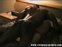 Cuckold Archive Sissy watching BBC bull drilling his wife