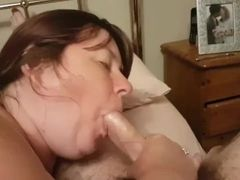 Beth providing a oral and getting a facial cumshot
