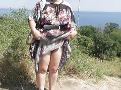 Hairy Mature in transparent dress (part 2)