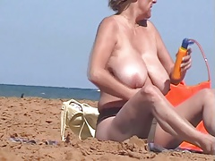 Mature topless beach