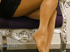 Layered unclouded Nylons Pantyhose swaggering in straitened circumstances Pumps Freehand JOI