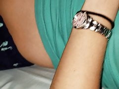 Spycam unsuspicious wifey no undies clean-shaved beaver and bosoms again