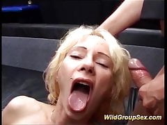 Moms first-ever real group sex bang-out