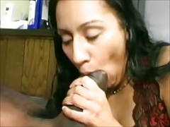 Indian wife passionately sucking African cock
