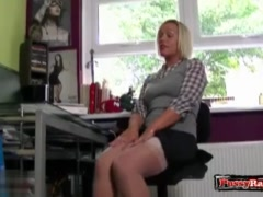 Hot pornstar nylon together with cumshot