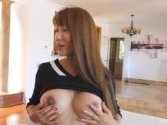 Asian Hottie Tiffany squirt Shows their way heavy titties surpassing FTV MILFs
