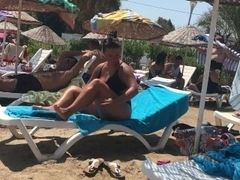 Turkish plump mommy at beach p.2