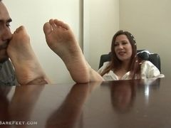 Mature sandy-haired soles adore