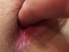 Pussy POVcumming wife's pussy gapes juices soaking wet hot