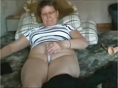 Mature slut masturbates & cums standing (almost falls over)