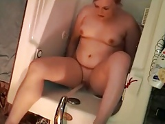 Russian mother in bathroom hidden cam