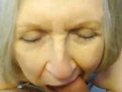 nasty slutty cum slut sue palmer sucking cock and using toy