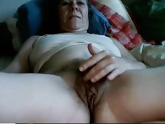 Granny Playforthg their way whisker Pussy forth Webcam