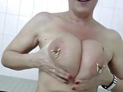Hefty Saggy jugs German grandma Marina Montana