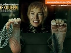 Cersei feet feet kittling Lena Headey